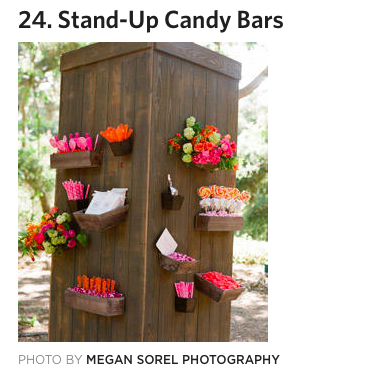 Candy Holders on the wall... For mine maybe markers, crayons, bubbles for the kids table