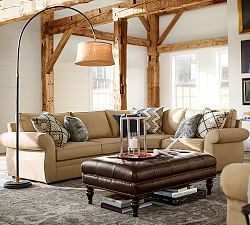 Pearce Sofa Collection Sleeper Sofas Pottery Barn Upholstered 3 Piece Sectional With