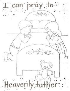 Lds Coloring Pages Family PrayerColoringPrintable Coloring Pages