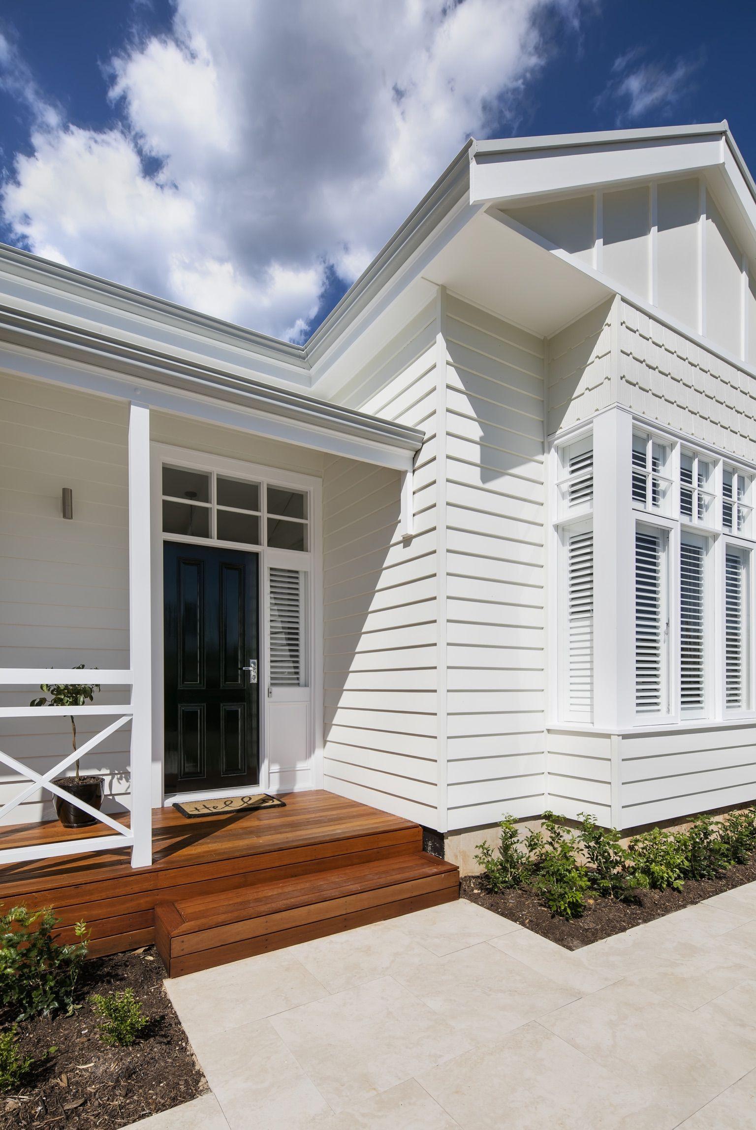 Love the coastal look scyon linea weatherboards allow you - Beach house colour schemes exterior ...