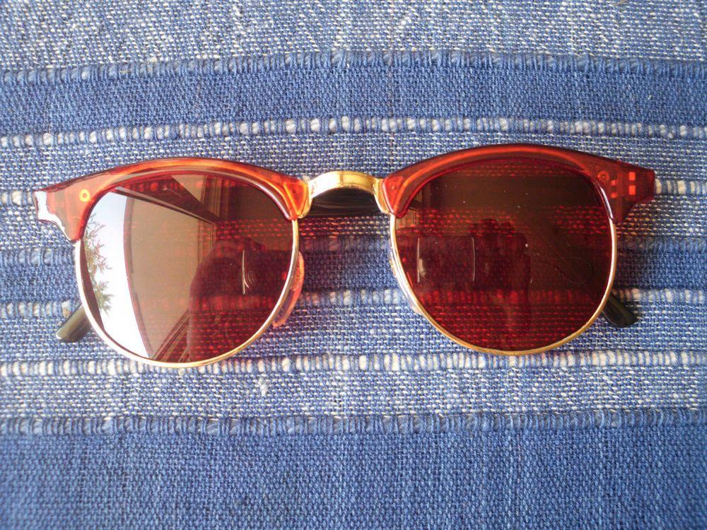 1 Retro Sonnenbrille im 50s Style Hippie Goa Brille rot 50 60 70 er Jahre 50er