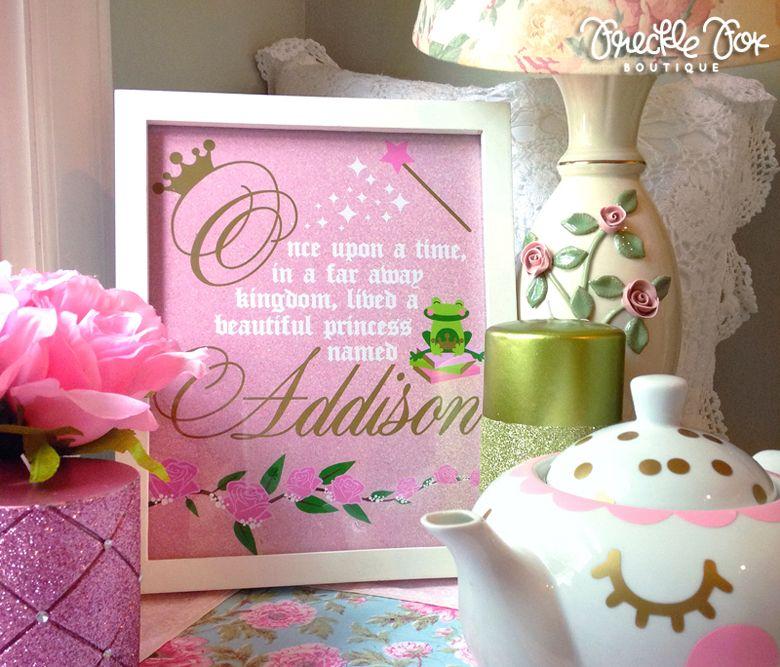 Custom Once Upon a Time Princess and the Frog Print Art Print