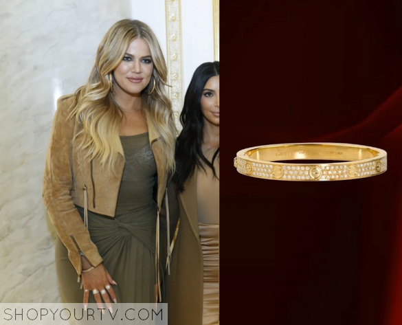 Kuwtk Season 10 Episode 14 Khloe S Gold Bracelet Worn On
