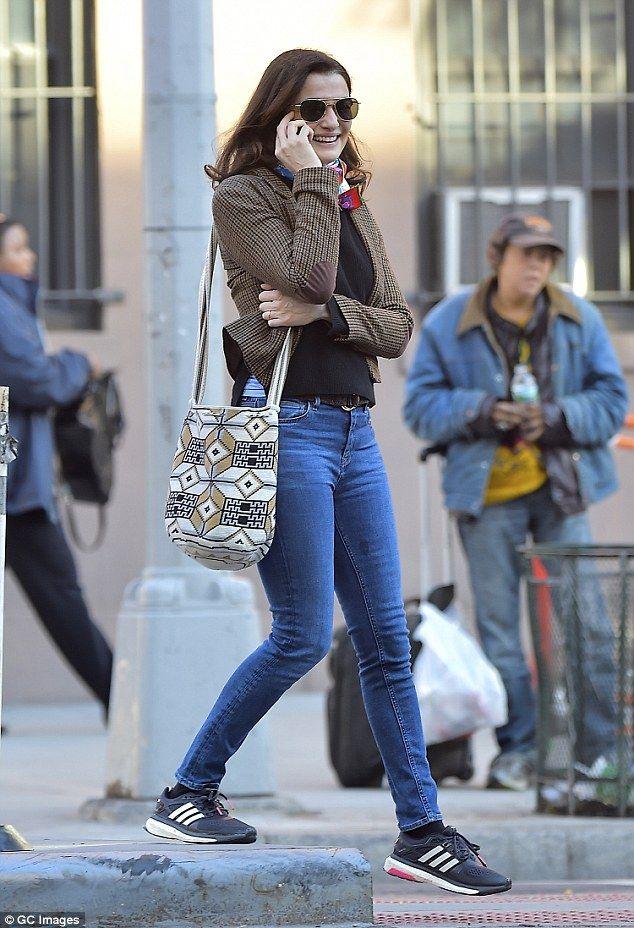 Rachel Weisz rocks a sophisticated look in short tweed jacket ...
