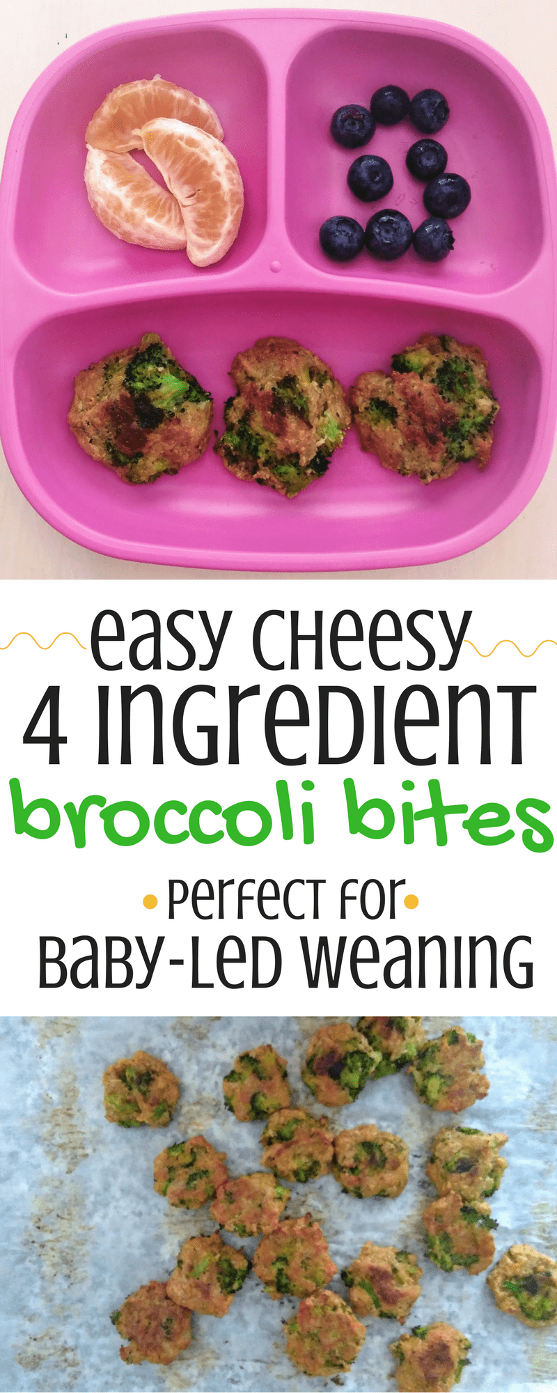 Easy Cheesy 4 Ingredient Broccoli Bites