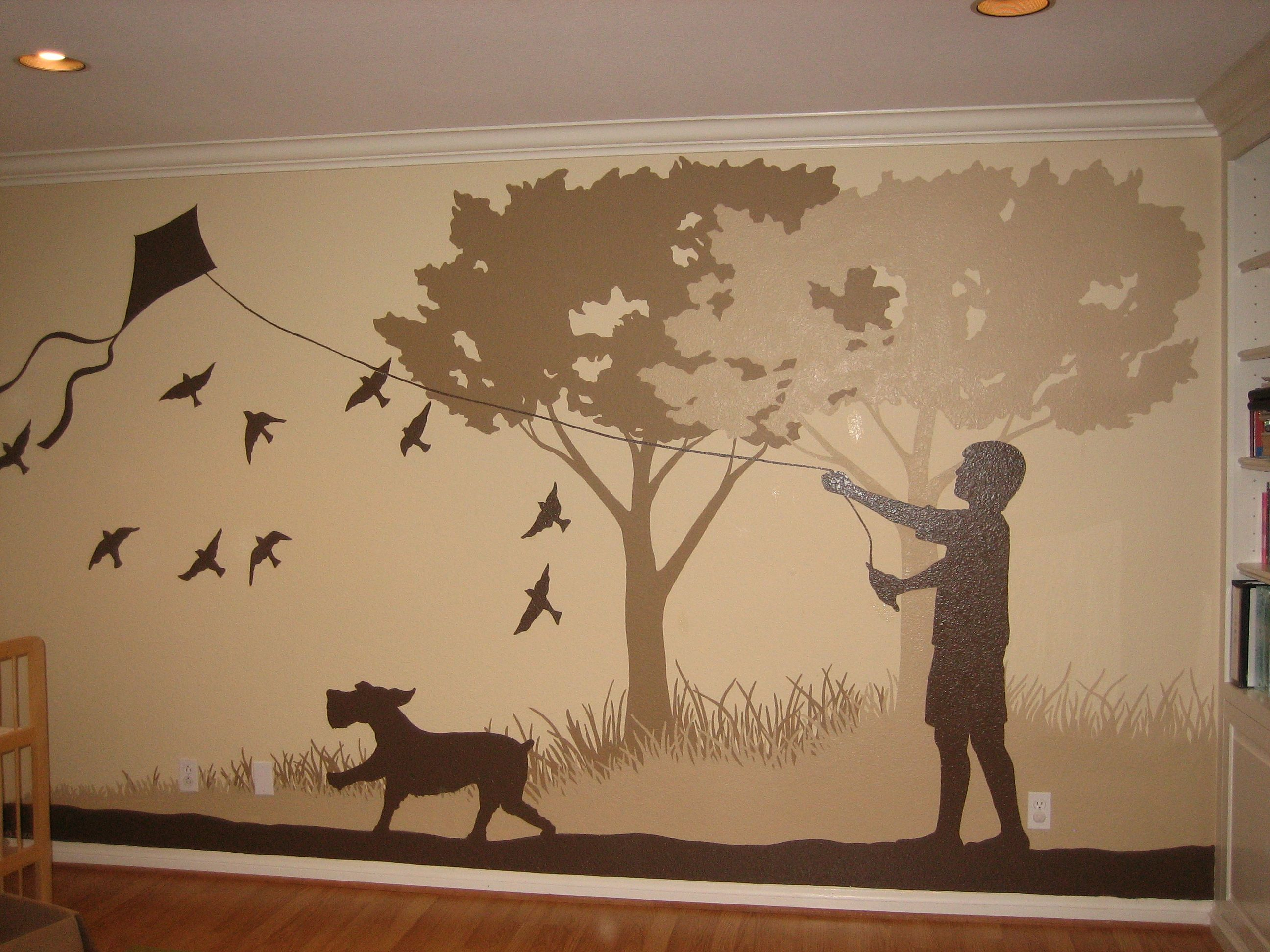 I Love This Tri Color Silhouette Mural That One Of My