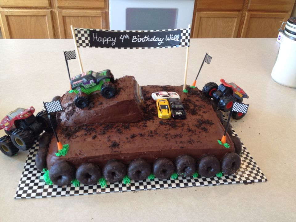 Monster Truck Cake With Images Truck Birthday Cakes