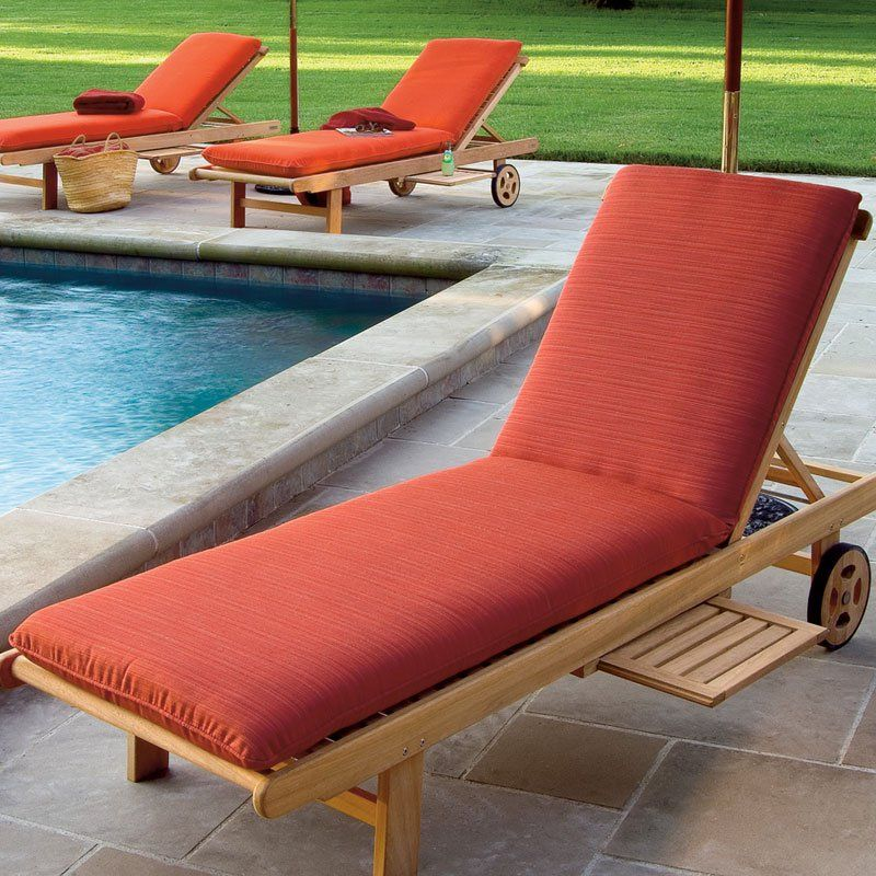 Oxford Garden 77.75 x 23.5 in. Sunbrella Chaise Lounge