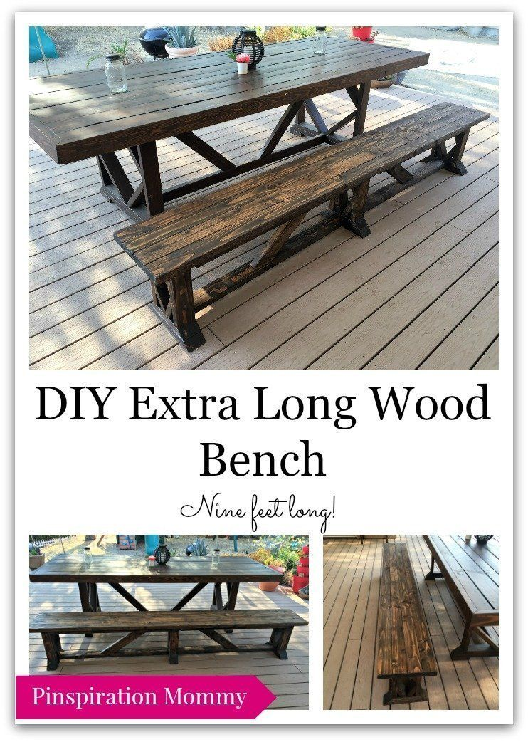 Diy Large Outdoor Dining Table Outdoor Wood Table Wood Bench
