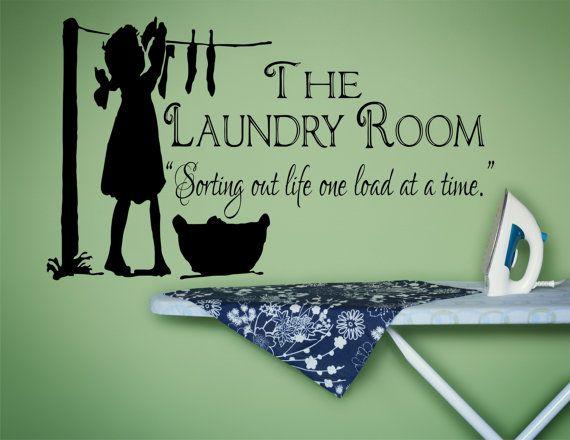 Laundry Room Decor, Laundry Sign, Laundry Room Decal, Laundry Decal, Laundry Room Sign, Vinyl Wall Decal, Laundry Room- WD0043 #laundrysigns