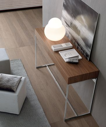 above view of chelsea console table from the jesse sf day collection
