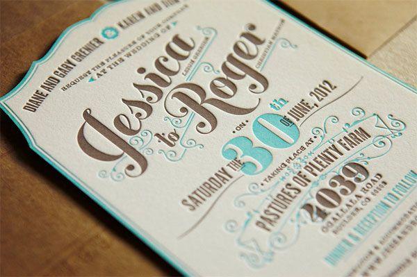 Letterpress Printing Wedding Invitations: Flourish Letterpress Wedding Invites