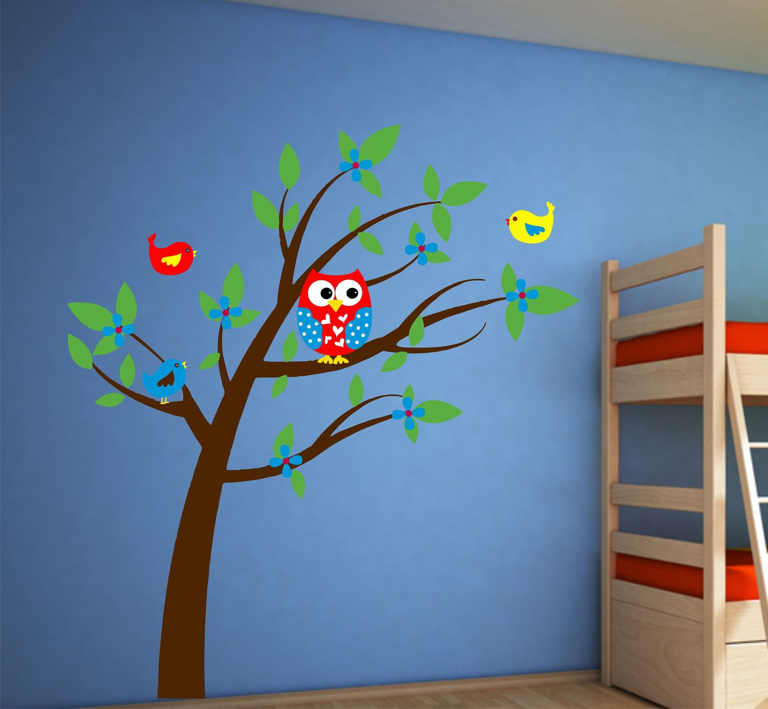 Tree Wall Decal  Owl Decor  Playroom Decor