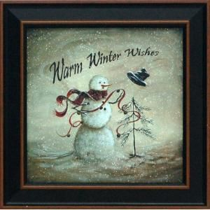 Warm Winter Wishes by Margie McGinnis Framed Graphic Art by Wayfair