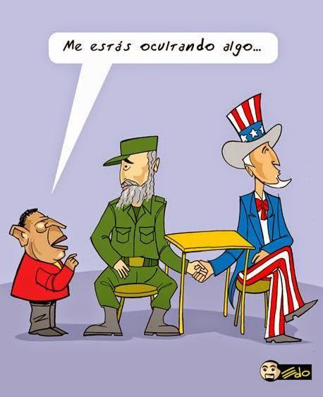 Caricatura EDO (2010) Me estás ocultando algo / EEUU y Cuba http://t.co/8CCGgz0j7o