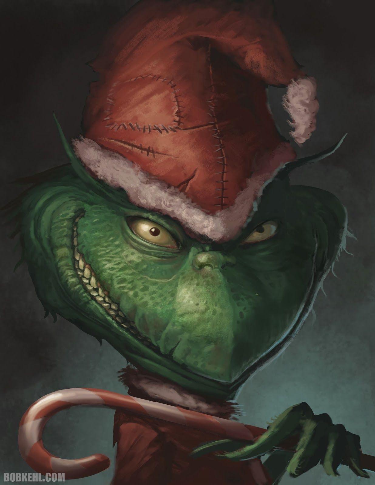 Art of Bob Kehl Creepy christmas, Grinch, Art