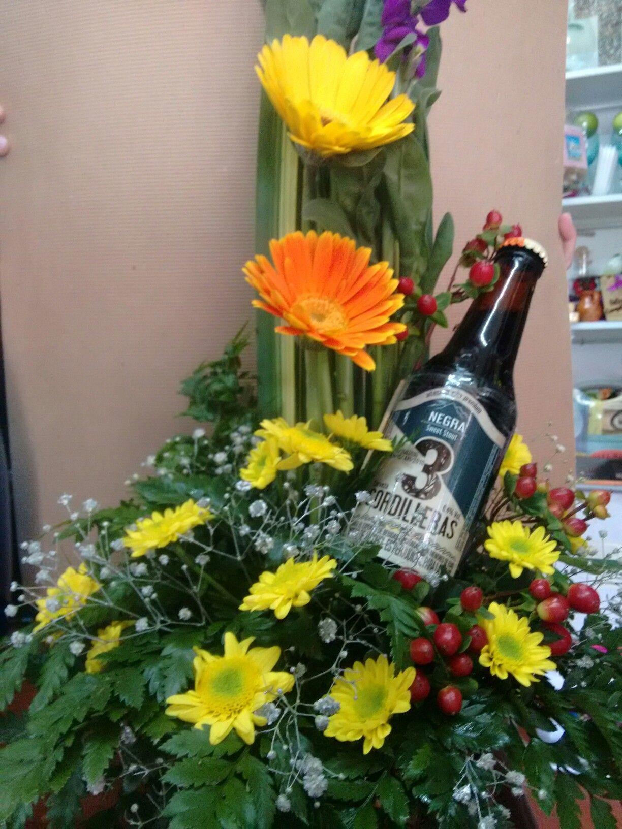 Mak Flores Con Cerveza Artesanal Arreglos Arreglos