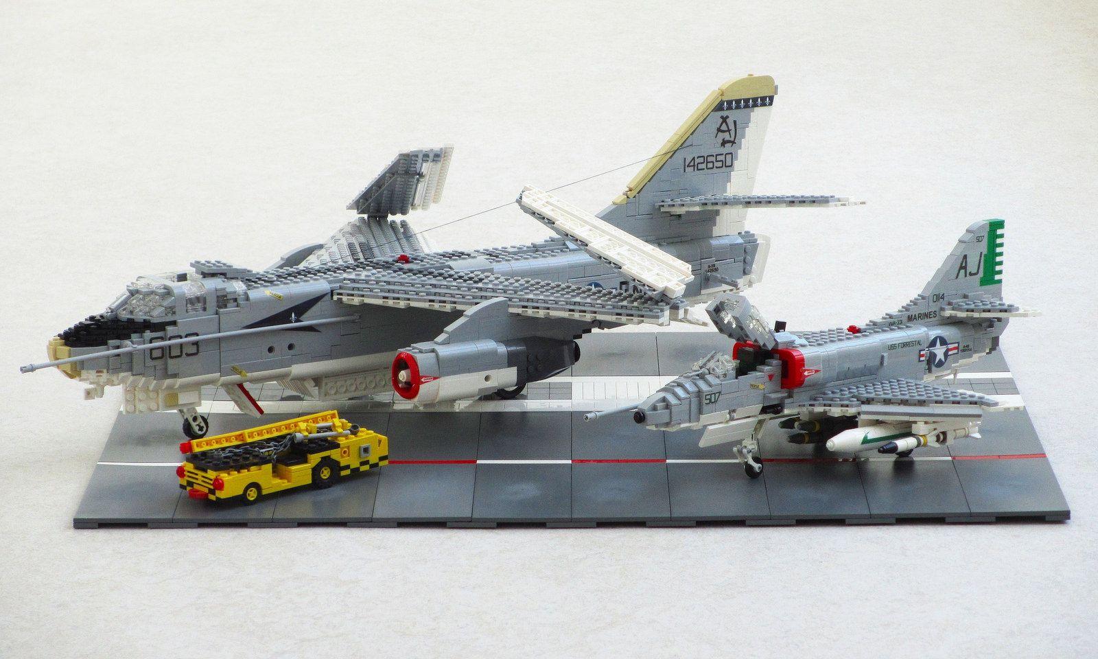 A 4 Skyhawk For Sale >> A 3 Skywarrior And A 4 Skyhawk Lego Military Lego Kits