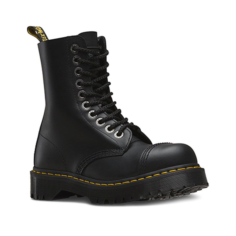 8761 bxb mens and womens 10eyelet boots black cap toe