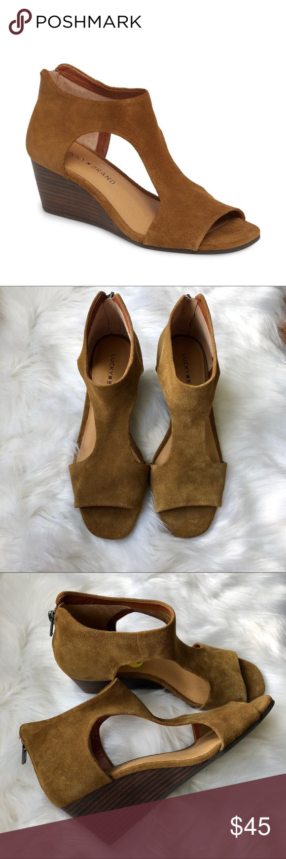 a1d9c04d3d Lucky Brand NWOT Tehirr Wedge Sandals Lucky Brand 'Tehirr' wedge sandals.  NWOT.