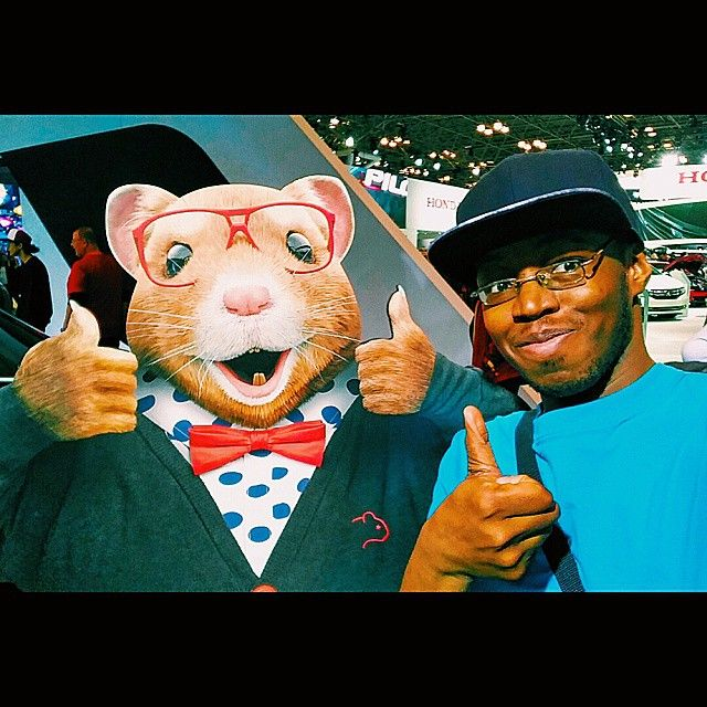 """The Kia Hamster and I thumbing it up"" Photo taken by @kingbomani85 on Instagram, pinned via the InstaPin iOS App! http://www.instapinapp.com (04/12/2015)"