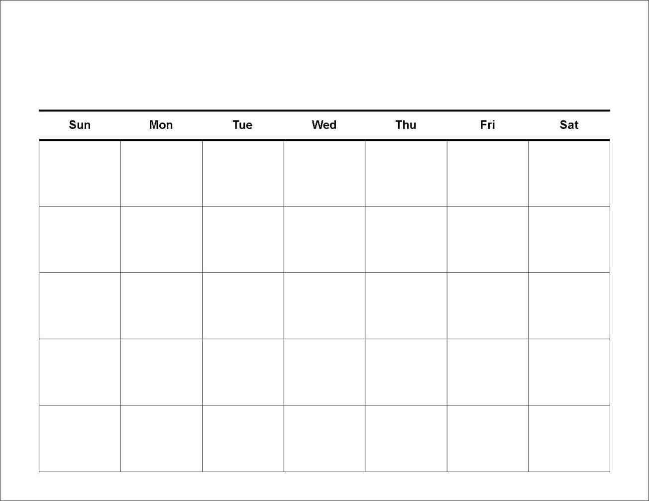 7 Day Calendar Template Clever Ideas Pinterest Blank Calendar