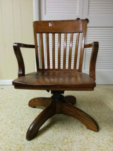 Old Fashioned Wood Office Chair