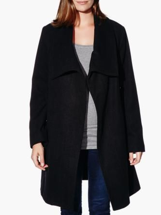 Black Wool Maternity Coat from #ThymeMaternity
