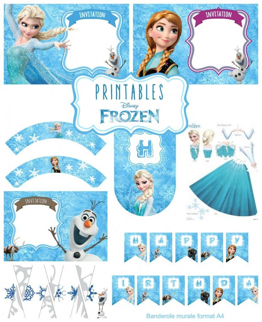 Kit anniversaire reine des neiges printables frozen - Reine des neiges frozen ...