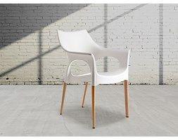 Krzeslo - naturalny bialy - NATURAL OLA