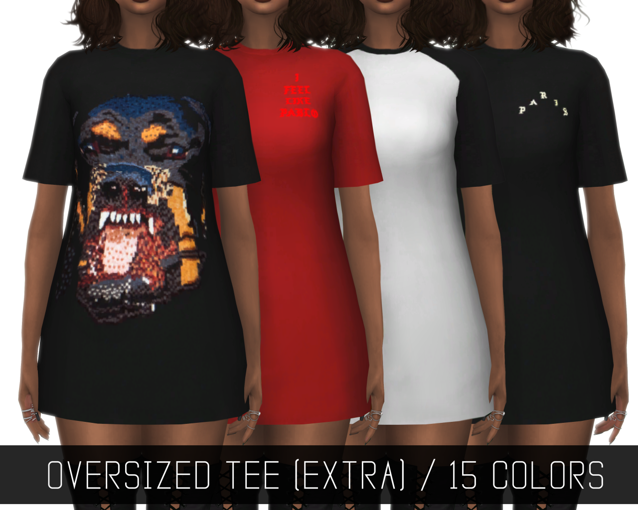 Patternsgivenchy Extra15 Tee• • Plain Colors; Oversized Base25 BxWdoerC