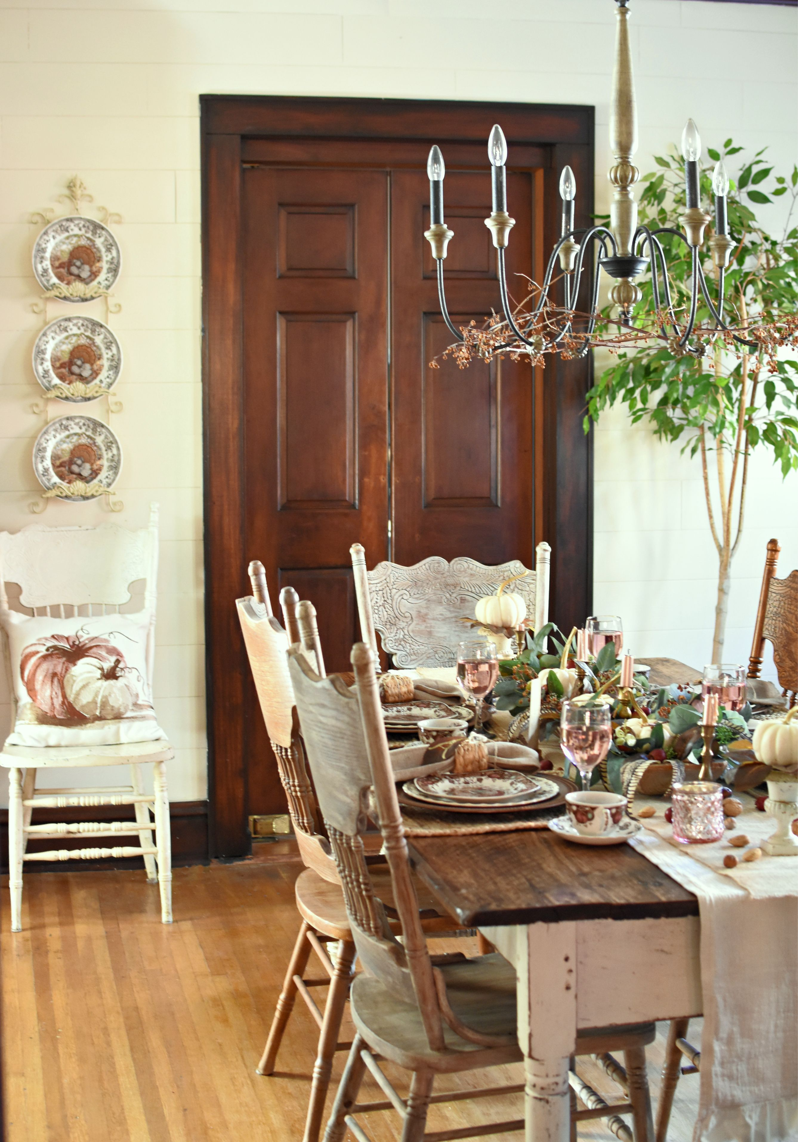 Pretty In Pink Vintage French Farmhouse Style Thanksgiving