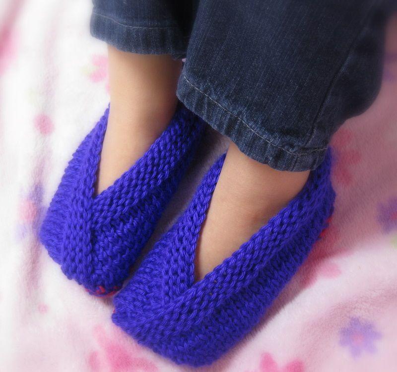 Little Kimono Slippers | Knitted slippers, Knitting for ...