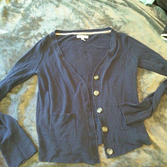 Aeropostale Navy Cardigan Sweater Aeropostale Navy Cardigan Sweater. Size Large. 5 buttons. Super cute just too small. Aeropostale Sweaters Cardigans