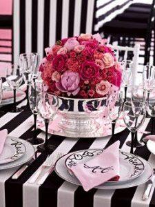 Black & White Table Ideas  White Table SettingsWhite TablesPink ...
