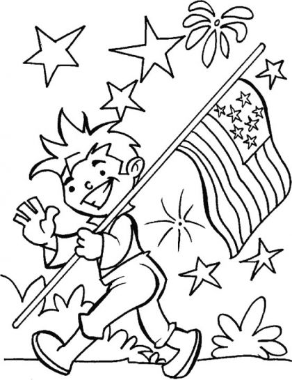 4th Of July Star Flag Coloring Page Flag Coloring Pages Star