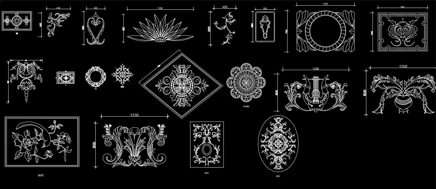 Pin di architectural decorative elements