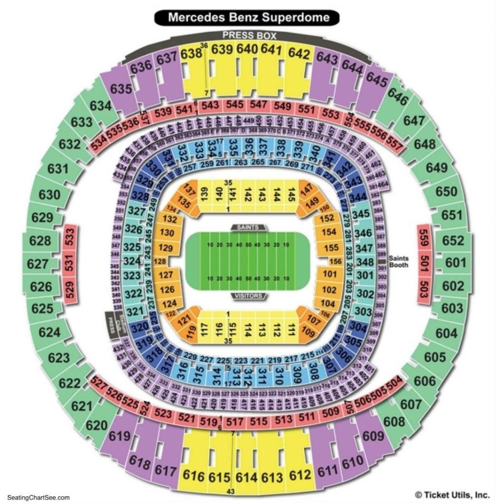 Superdome Seating Chart Saints