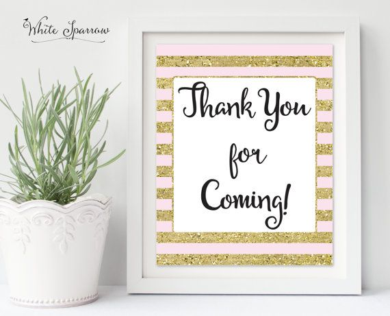 thank you for coming sign gold bridal shower sign bridal shower decorations gold bridal shower b