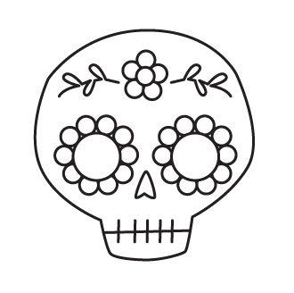 Studio Longoria Tutorial Sequined Sugar Skull Hairclip Pin Skull Stencil Sugar Skull Stencil Skull Template