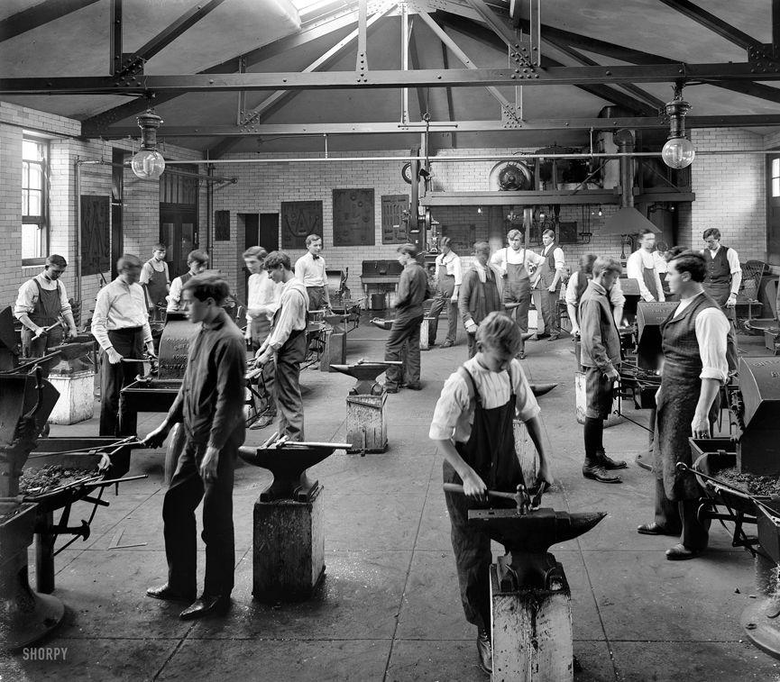 McKinley, School of Blacksmiths, Washington, 1907