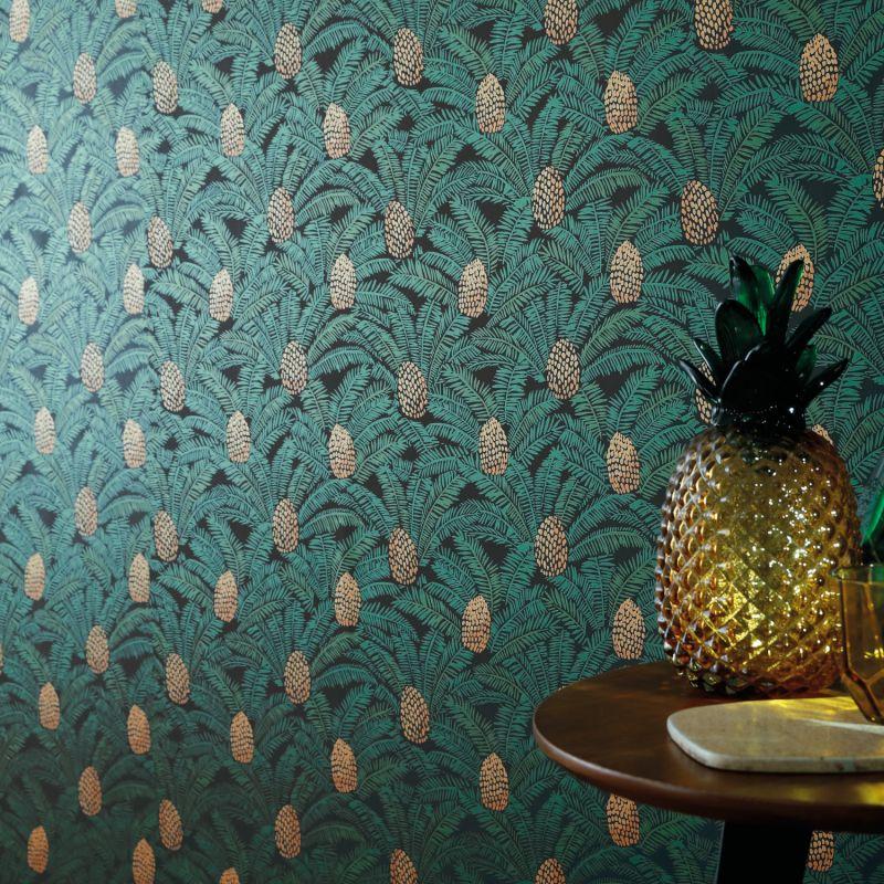 Rasch Tropical Palm perroquet Papier Peint Vert Crème Coller le mur Texturé Vinyle