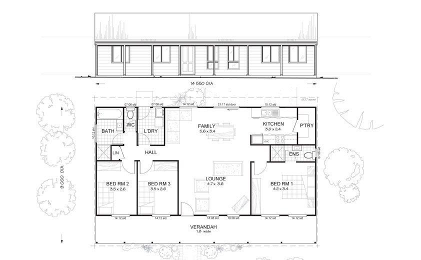 MetKit Homes Floor Plans  Blaxland   Affordable Budget Steel