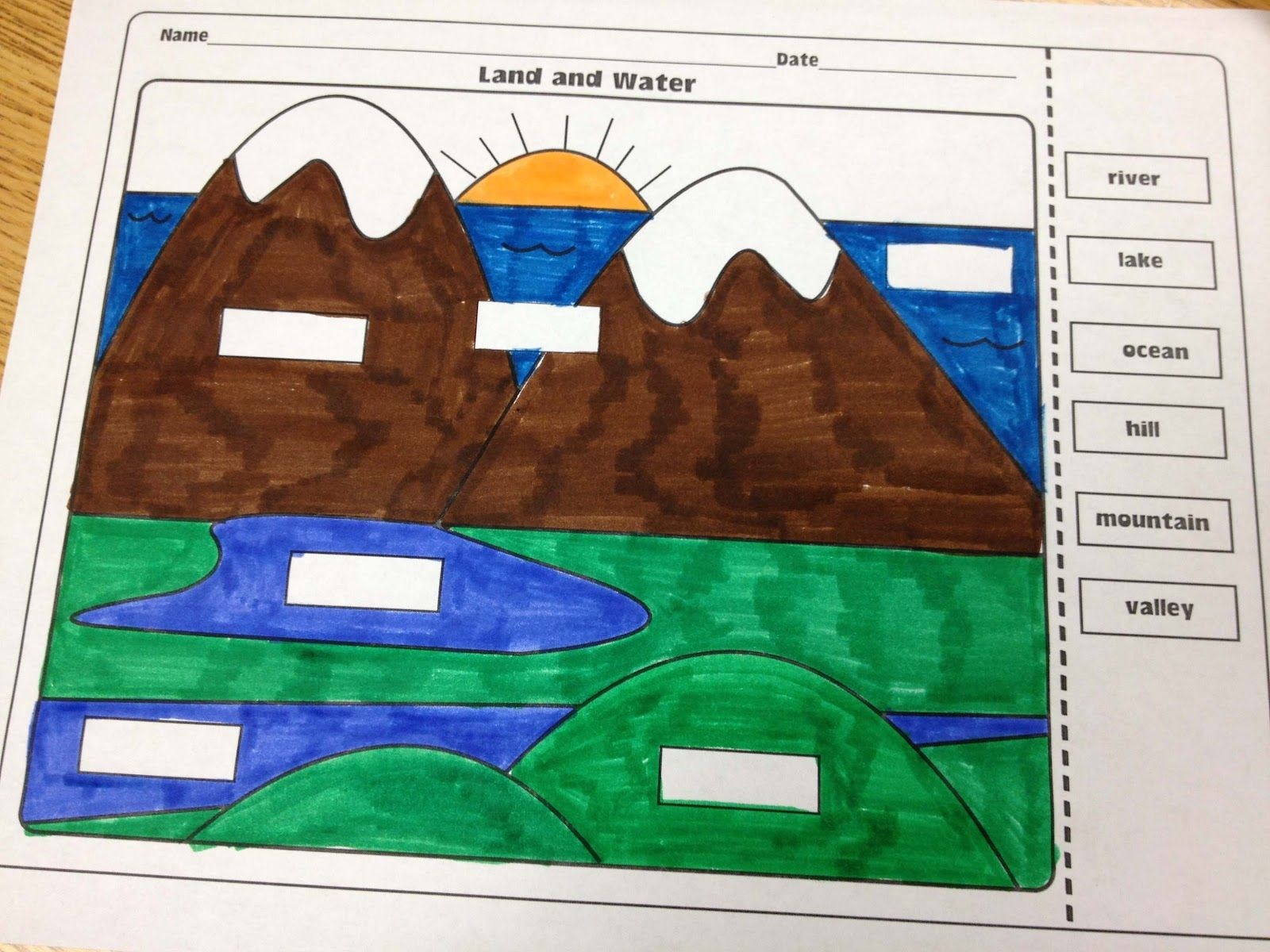 The Lesson Plan Diva Landforms And Bodies Of Water Freebie