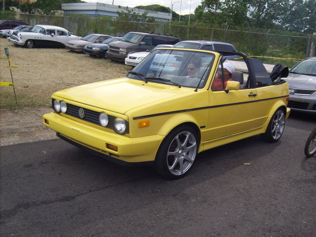 Yellow cabriolet... not joking, this was my dream car in