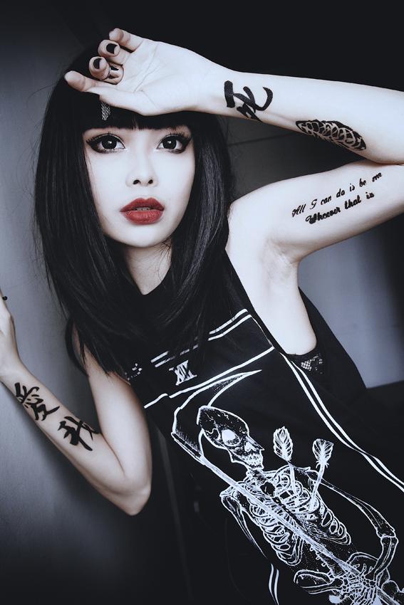 cute gothic girl