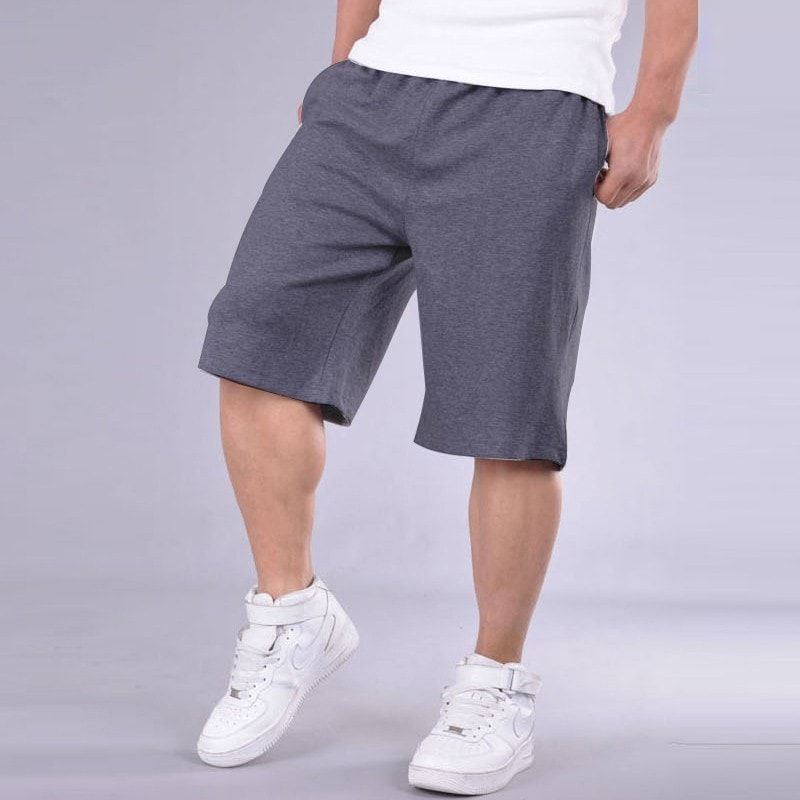 a78fafcd58d6b Big Size Shorts Men Solid Baggy Loose Elastic Shorts Cotton Casual Plus  Size Shorts Extra Large Big Plus Size 4XL 5XL 6XL 7XL
