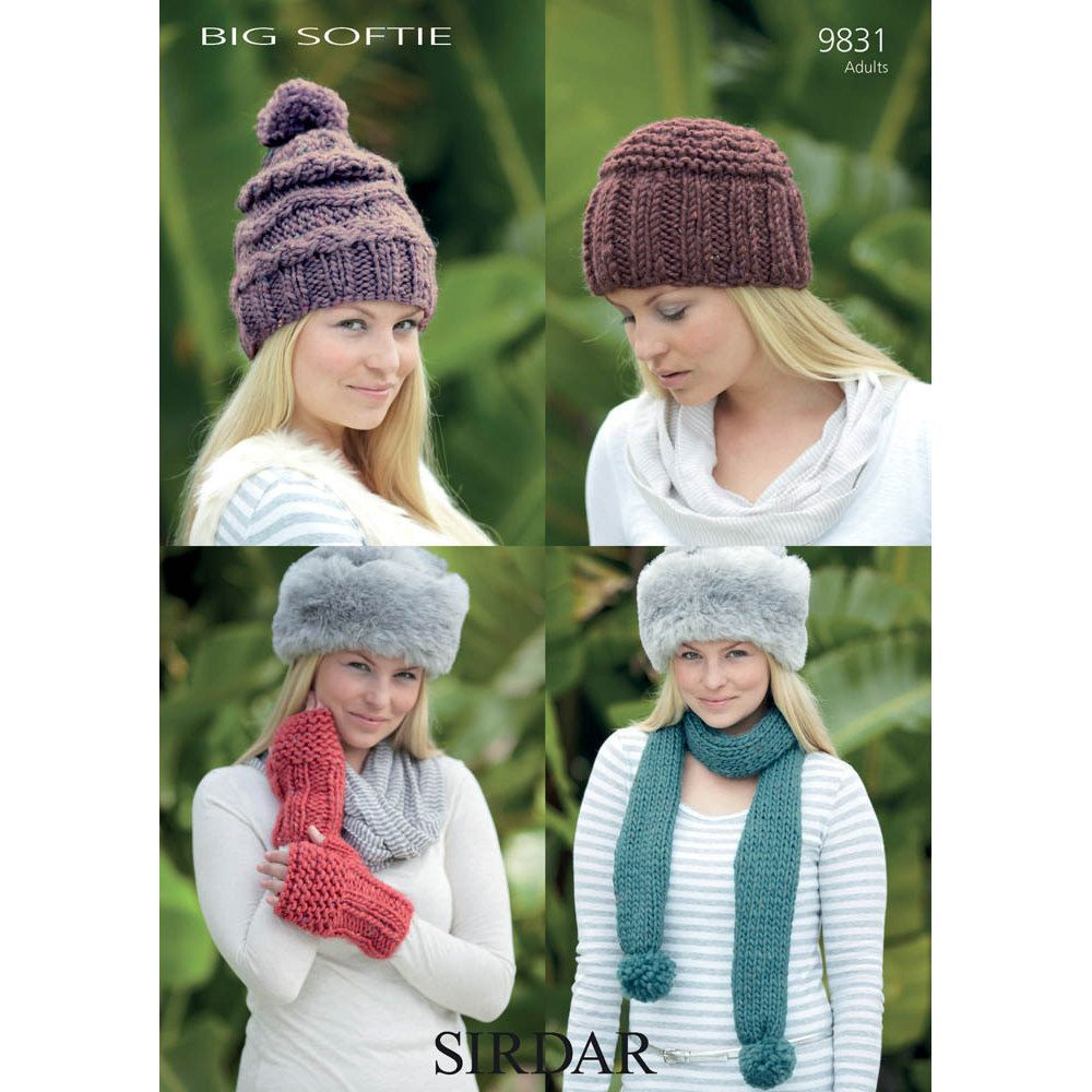 Hats, Scarves and Mittens in Sirdar Big Softie - 9831. Discover more ...