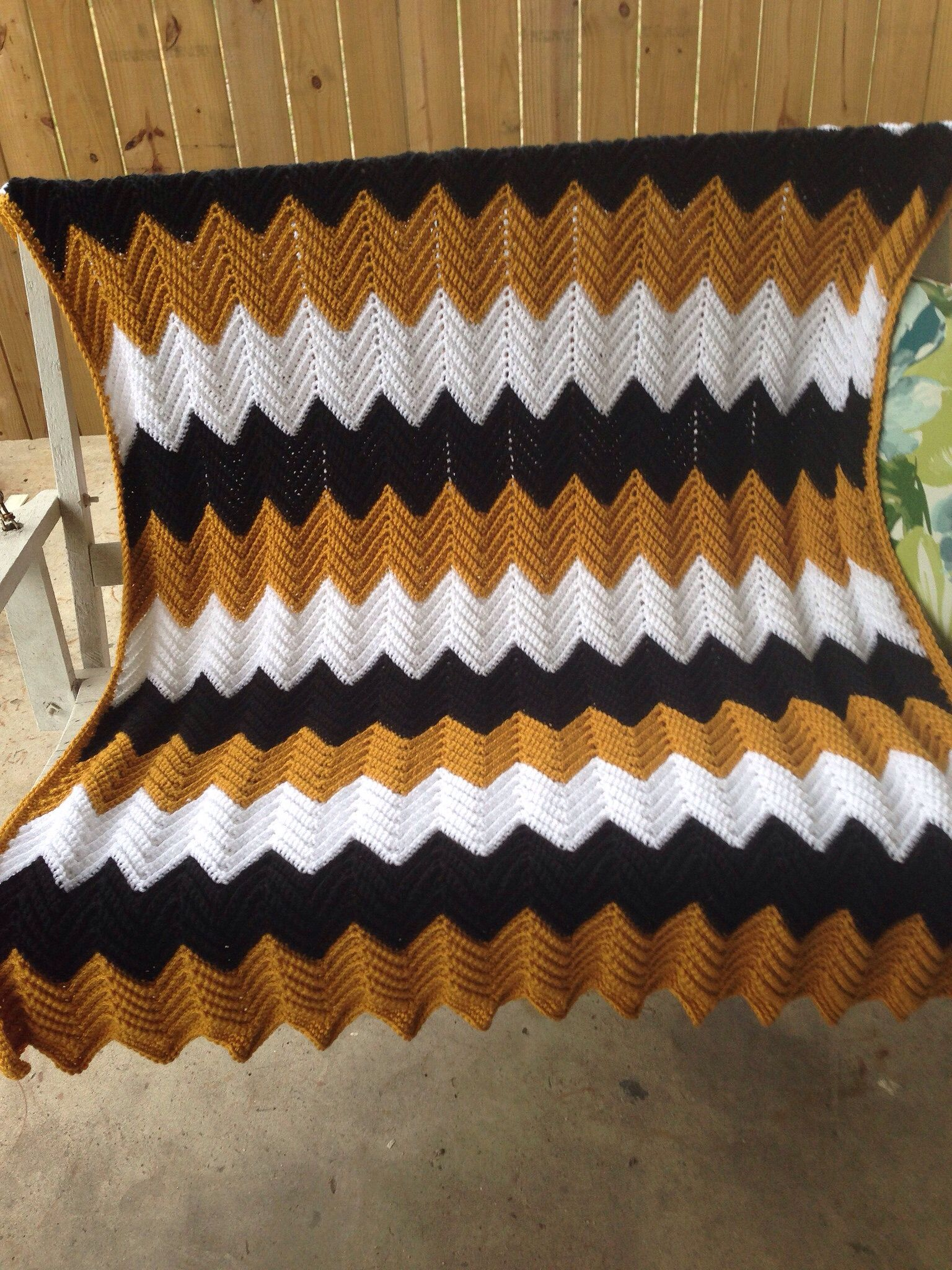New orleans saints ripple afghan crocheted blankets pinterest new orleans saints ripple afghan bankloansurffo Images