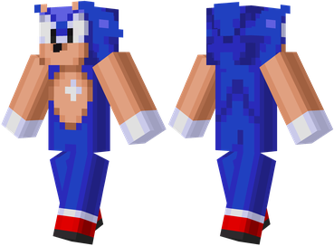 Sonic The Hedgehog Minecraft Skin Sonic The Hedgehog Pinterest - Skins para o minecraft sonic